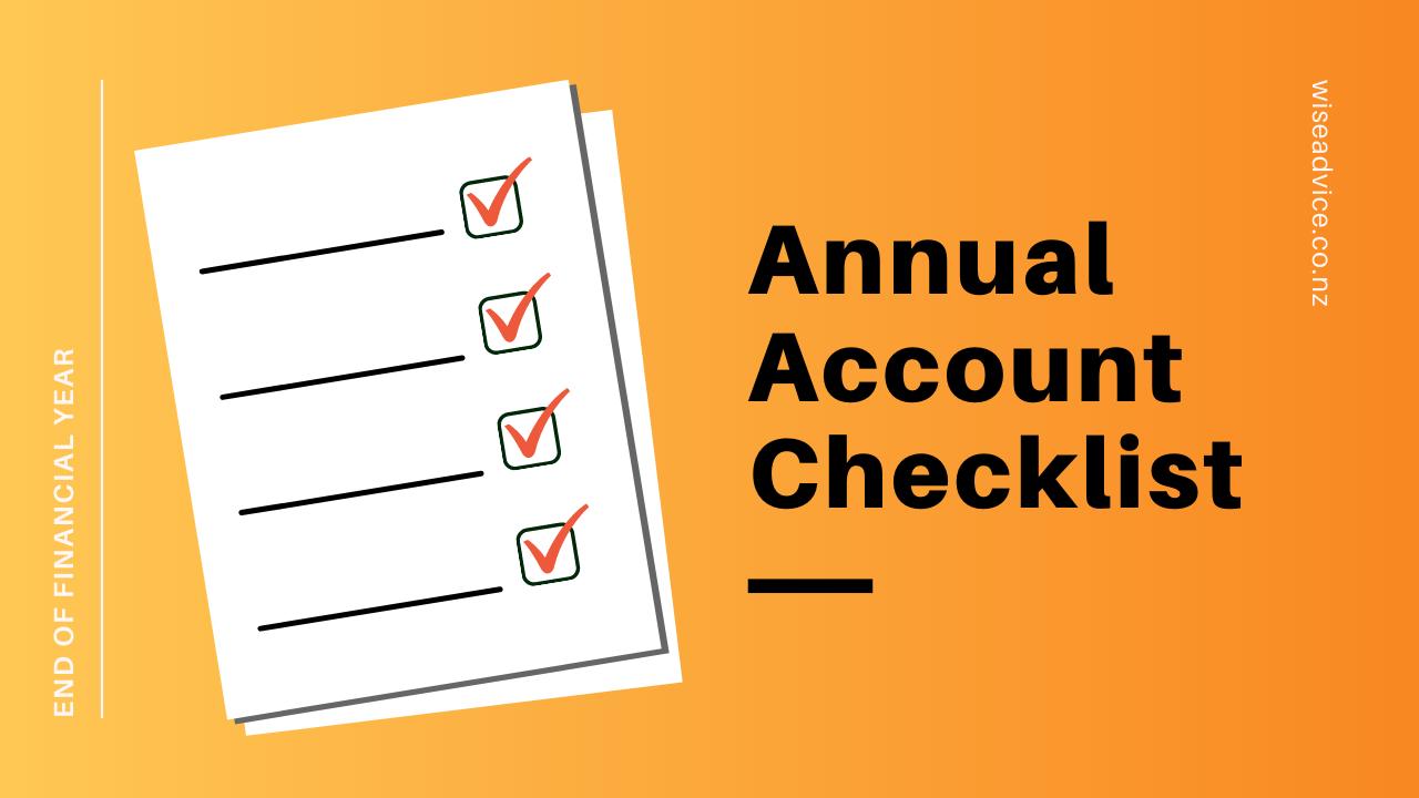 Annual account checklist